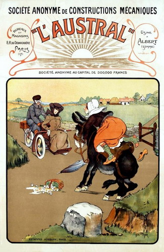 Affiche mototricycle Austral